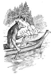 180px-Coyoteinacanoe