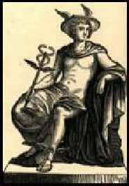 شاهزاده نانار به صورت هرمس در حالیکه علامت کیمیاگری را در دست دارد.این علامت دو مار پیچ خورده است که امروزه نیز بر روی محصولات پزشکی و دارویی دیده می شود.