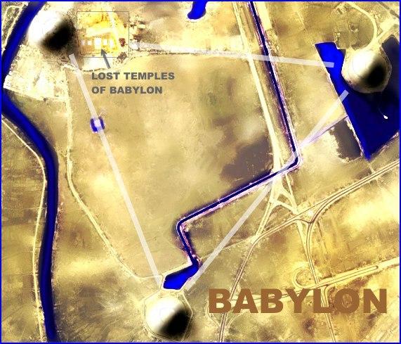 City of babylon and its three rebuilt ziggurats