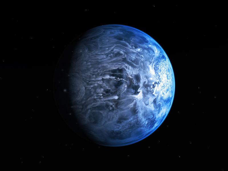 سیاره بیگانه آبی رنگ