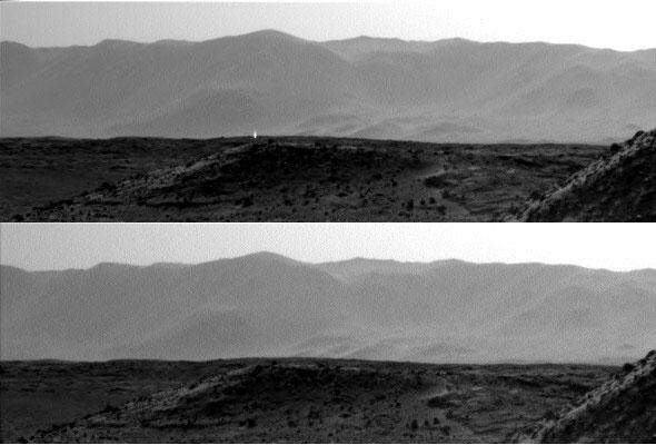 منشاء نور عجیب در مریخ