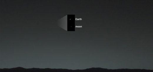 زمین و ماه از نگاه مریخنورد کنجکاوی