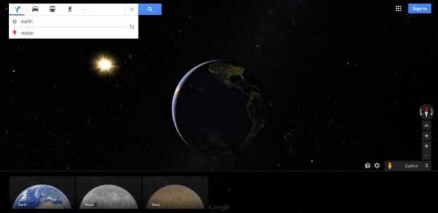 اضافه شدن ماه و مریخ به Google Maps