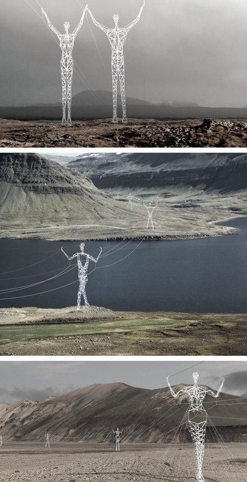 دکل های غول پیکر برق