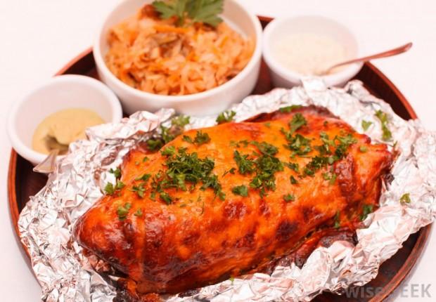 roasted-glazed-meat-on
