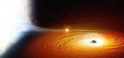 ستاره ای که در نزدیکی یک سیاه چاله