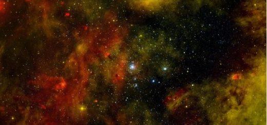 خوشه نارنجی ستارههای نوزاد