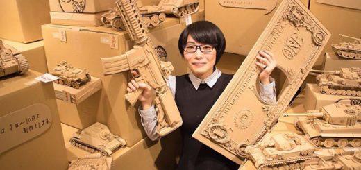 ساخت مجسمه های زیبا و حیرتانگیز با استفاده از جعبه های مقوایی