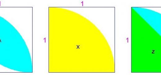 معمای ریاضی: مساحت قسمت رنگی را بیابید.