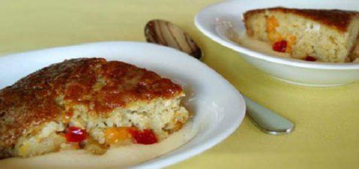 پودینگ موز، نارگیل و تخم شربتی
