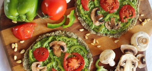 پیتزا مخصوص رژیم غذایی خام گیاهخواران