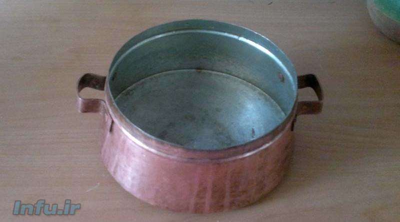 زنگ زدگی ظرف فلزی