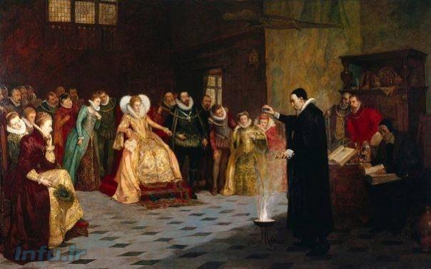 سر جان دی و ملکه الیزابت دوم
