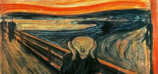 تابلوی فریاد یا جیغ (نخستین اثر اکسپرسیونیستی جهان، اثر ادوارد مونش،۱۸۹۳)