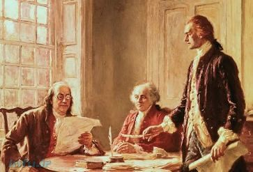 توماس جفرسون, جان ادمز و بنجامین فرانکلین