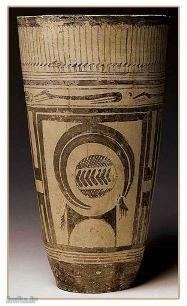 سفال باستانی با نقش بز-ایران