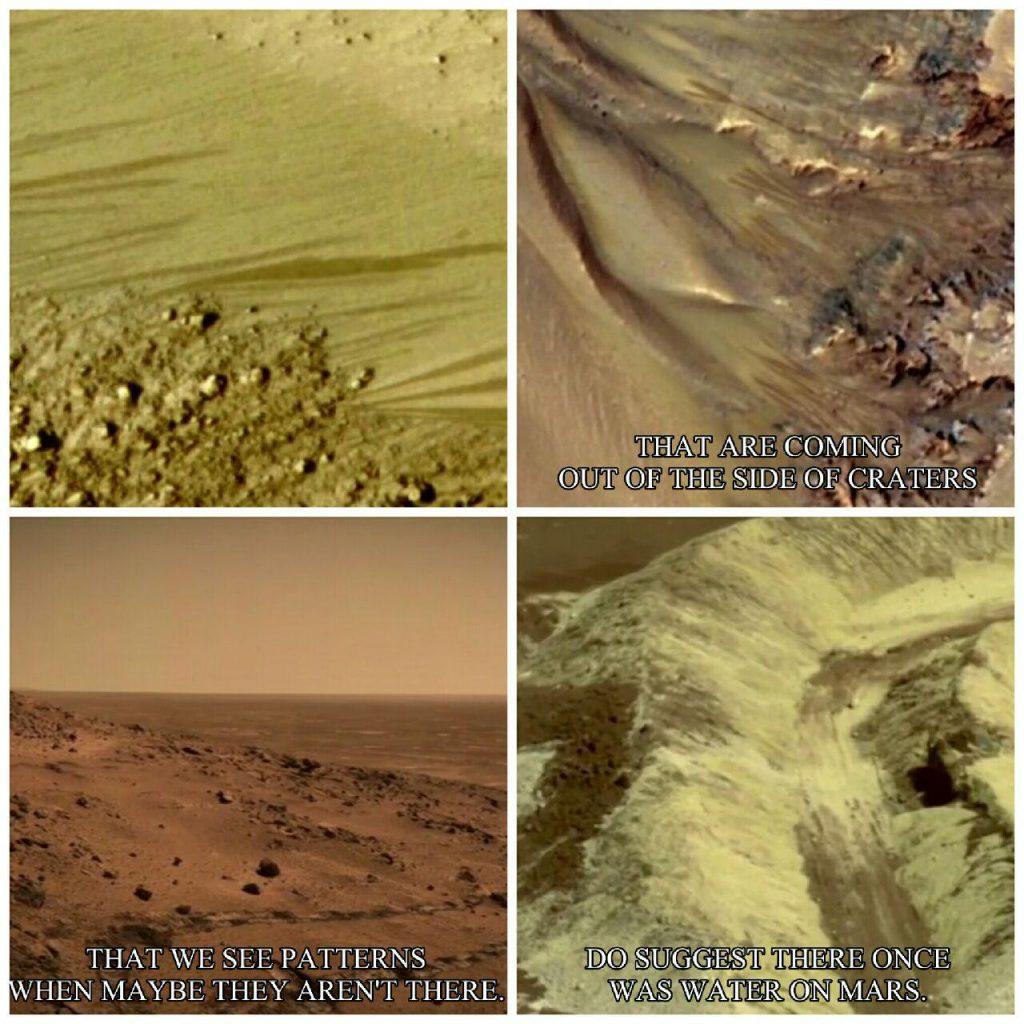شواهد وجود آب در گذشته و حال مریخ.