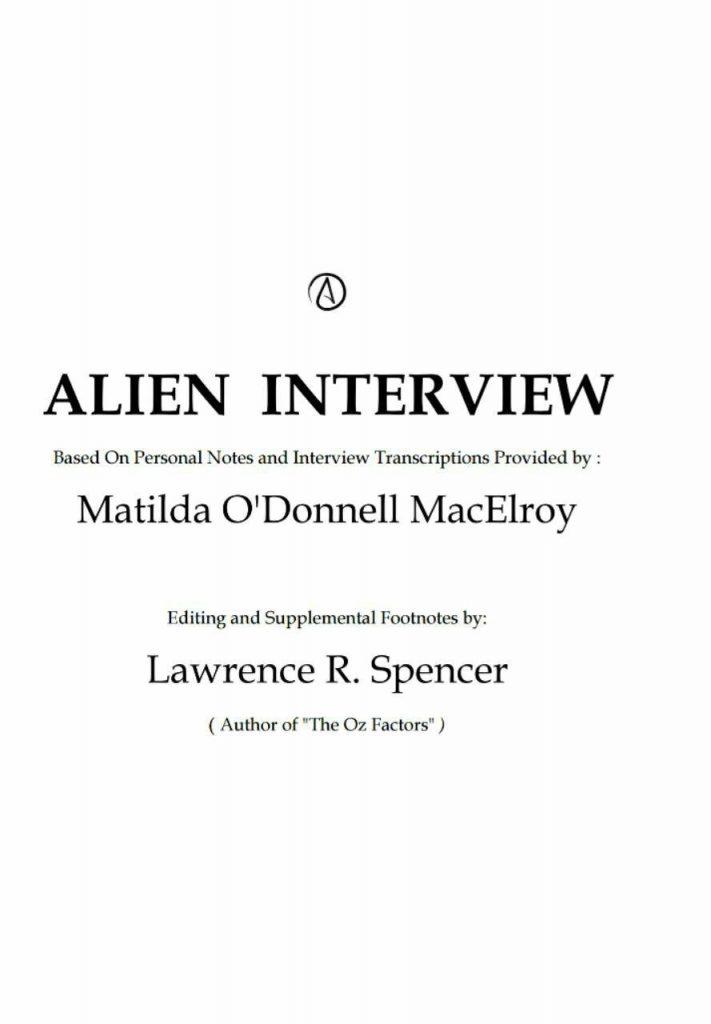 کتاب مصاحبه با بیگانه.