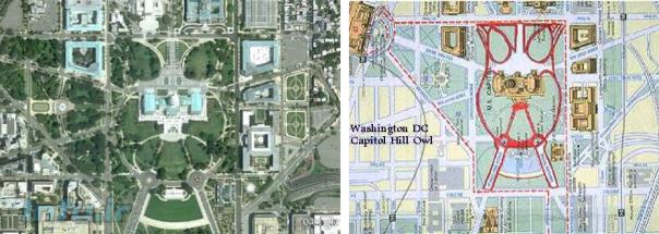 بخشی از طراحی شهری واشنگتن دی.سی