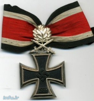 صلیب مالت و برگ بلوط بر روی نشان نازی