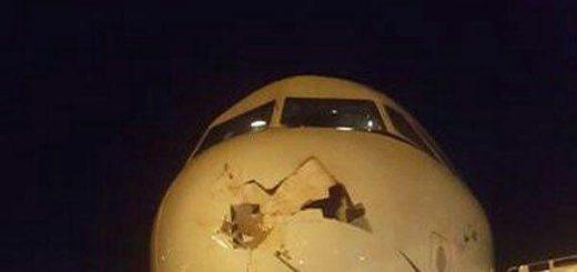 برخورد هواپیمای تفلیس به تهران با یک پرنده