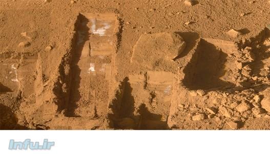 – حفاریهای کمعمق و متعدد مریخنشین «فونیکس» در سال ۲۰۰۸، نشان از وجود لکههای سفیدرنگی در عمق تقریباً دو سانتیمتری سرزمینهای قطبی این سیاره میداد که با سرعتی بیش از آنچه از یک یخ دیاکسید کربن انتظارش میرود، تصعید میشدند. بررسیهای بعدی، گمانهی «یخآب» بودن این لکهها را تأیید کرد و لذا این نخستین تماس مستقیم بشر با آب فرازمینی بود. یافتهی اخیر ژئوشیمیدانان بریتانیایی در اعماق معدن کانادایی میتواند بسا که هیجان کشف «حیات» فرازمینی را در پی داشته باشد؛ چراکه نهتنها این آب، بالغ بر 1 میلیارد سال با هیچ محیطی تماس پیدا نکرده، بلکه احتمال وجود حیات تکیاختهای هم در آن میرود.