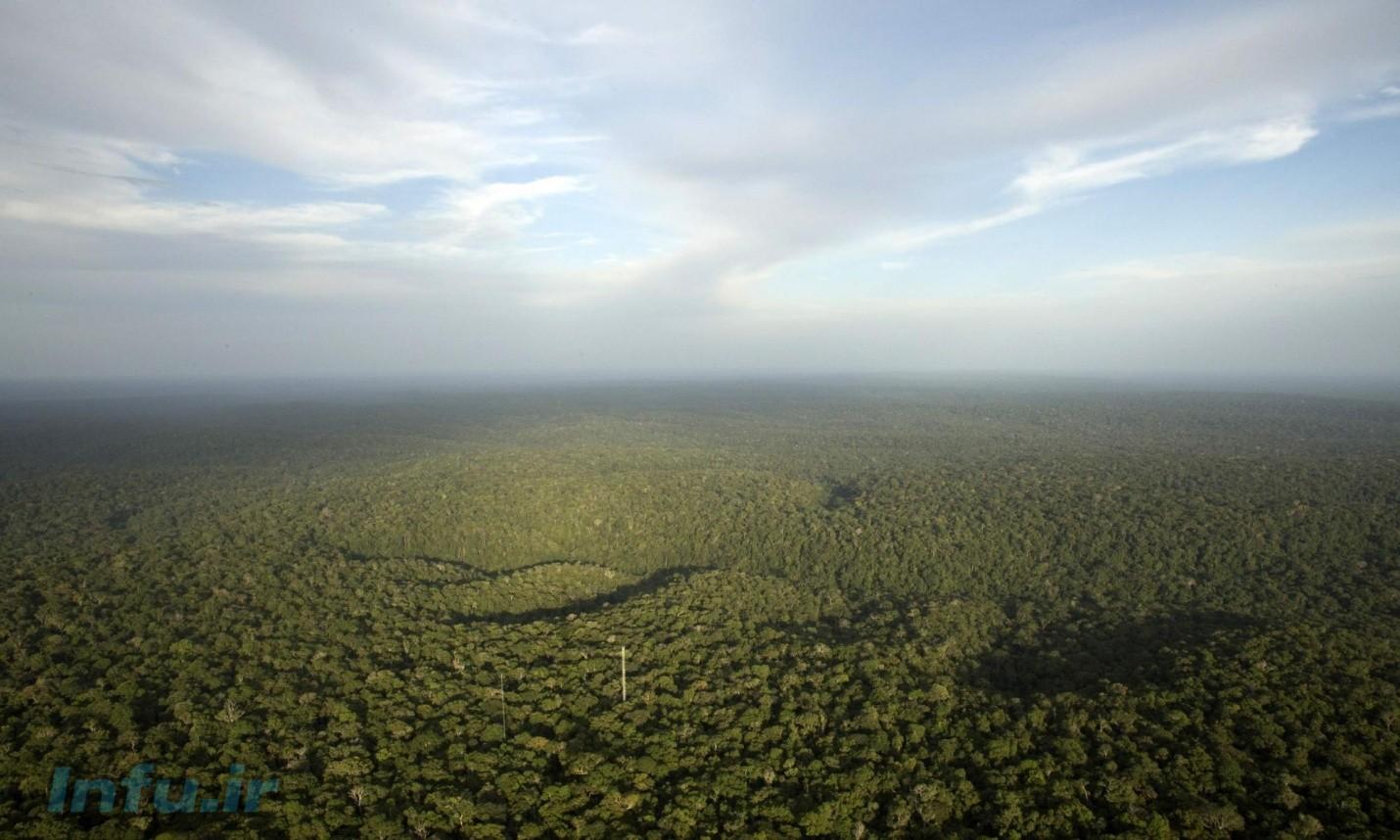 جنگلهای آمازون. توسعه شهری و صنعتی چهره کره زمین را دگرگون کرده است.