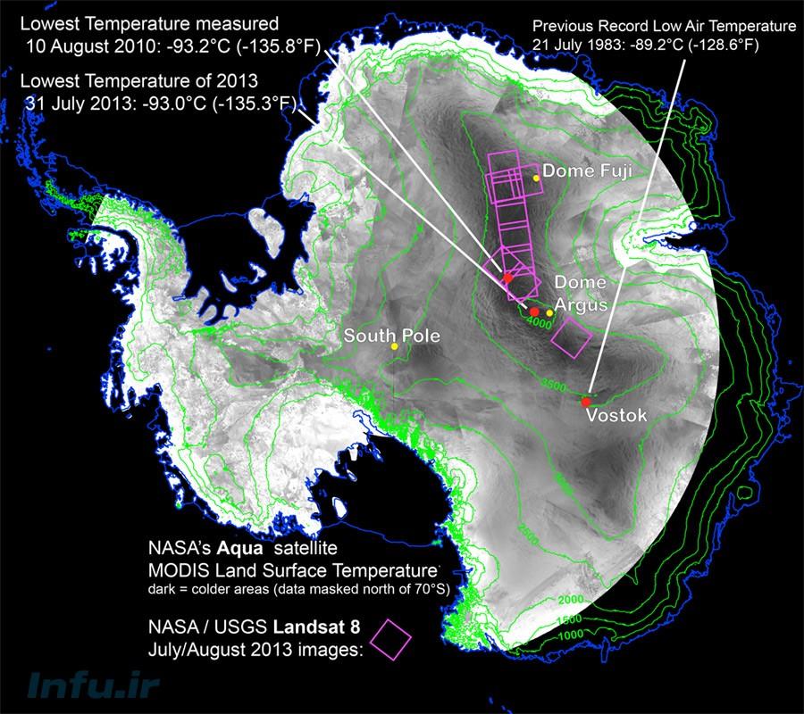 سردترین دمای زمین