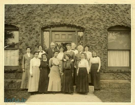 جمعی از زنان فعال در تهیه کاتالوگ رصدخانه هاروارد، در کنار ویلیام پیکرینگ، مربوط به سال ۱۹۱۳.