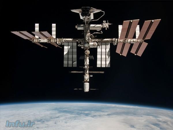 ایستگاه فضایی بینالمللی در اتصال با شاتل فضایی ایندیور طی مأموریت STS-134