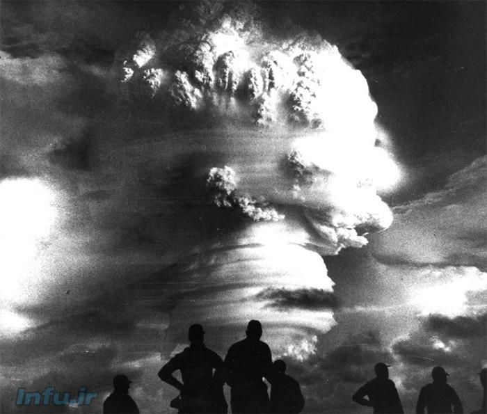 آزمایش جوّی بمب هستهای بر فراز صحرای نوادای ایالات متحده در سال ۱۹۵۸ / منبع: سازمان امنیت هستهای آمریکا