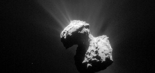 دورنمایی از هسته دنبالهدار 67-پی، از دید مدارگرد روزتا