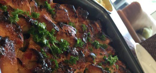 مرغ تند شیرین کباب شده