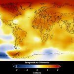 نمودار یک: تغییر دمای زمین از سال ۲۰۰۸ تا ۲۰۱۲