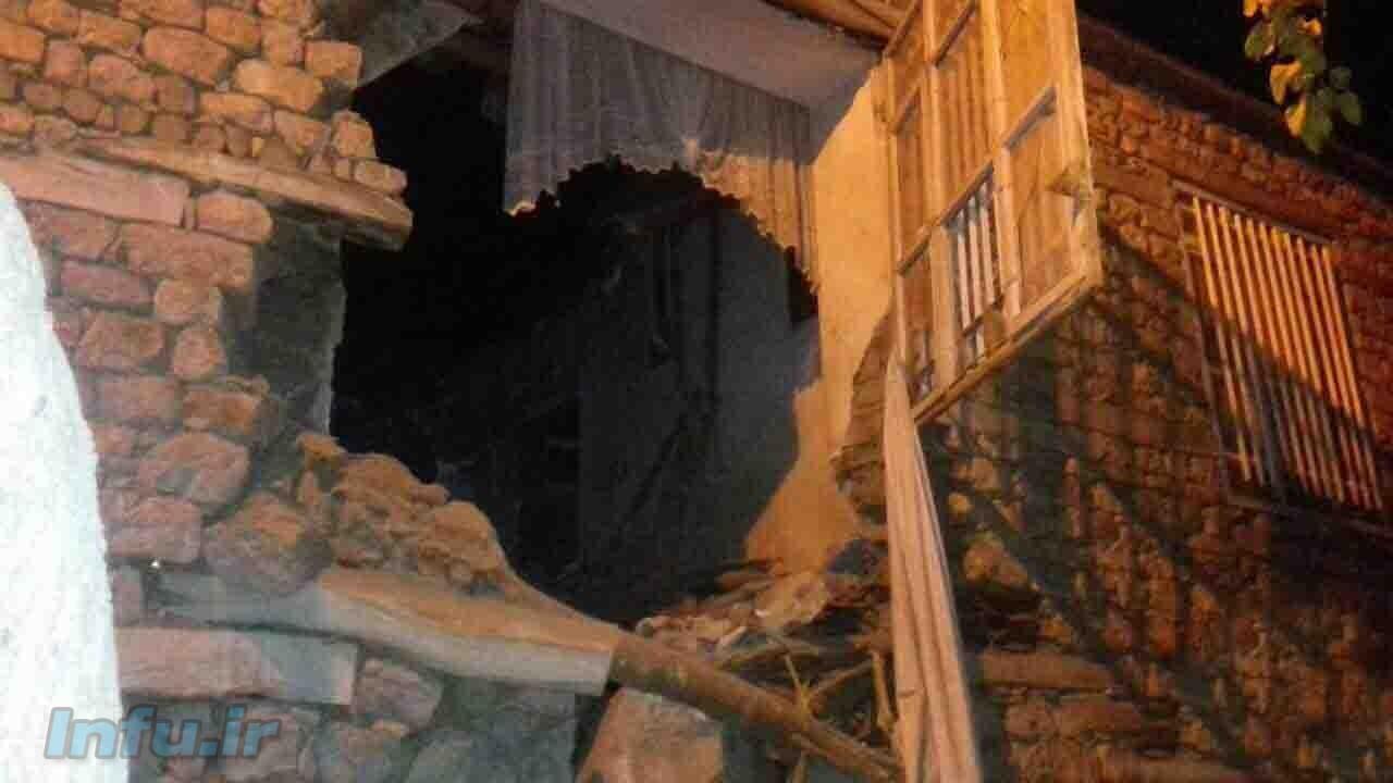 خسارت شدید در روستای داریان از توابع پاوه