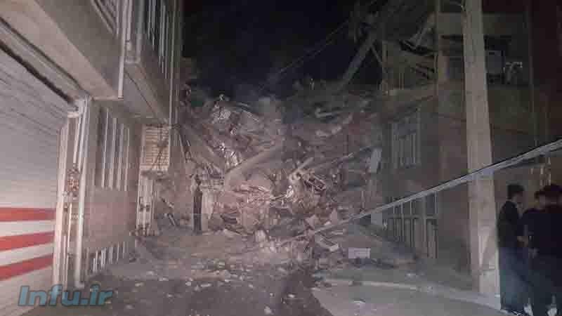 یکی ازکوجه های جوانرود پس از زلزله
