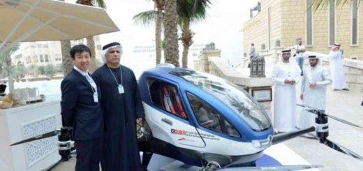 یگ پهپاد مسافربر که قرار است از تابستان اینده در دوبی مشغول کار شود