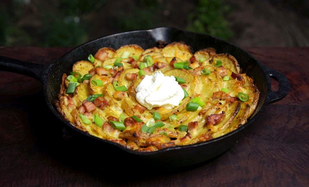 Roasted Spiral Potatoes
