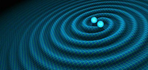 تصویر طراحیشده «ناسا» نشاندهنده امواج گرانشی؛ محققان پیشگویی کرده بودند که اگر دو سیاهچاله فضایی با هم برخورد کنند، امکان بوجود آمدن و رصد چنین امواجی وجود خواهد داشت