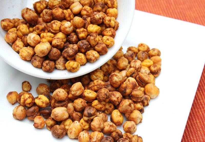 roasted-honey-cinnamon-chickpeasطرز تهیه نخود بو داده