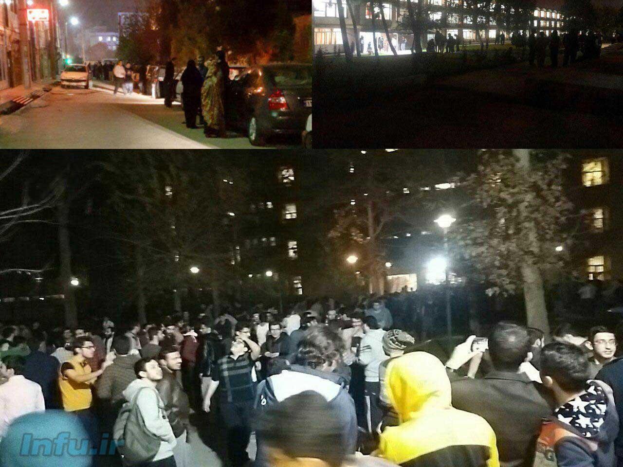 خروج مردم از ساختمان ها در تهران