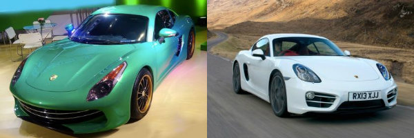 Eagle and Porsche Cayman