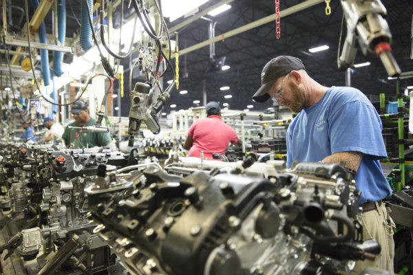Toyota is investing $106 million at its engine plant in Huntsville