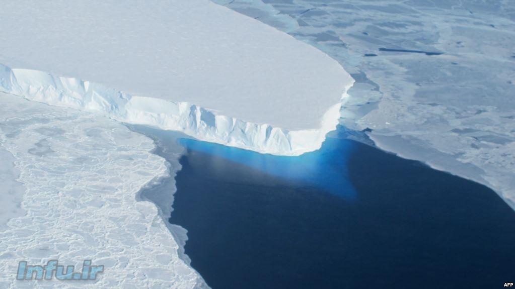 یخهای قطب جنوب که در حال آب شدن است