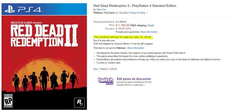 تاریخ عرضه احتمالی Red Dead Redemption 2