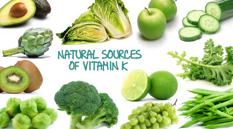 غذاهای حاوی ویتامین کا Vitamin-k-foods
