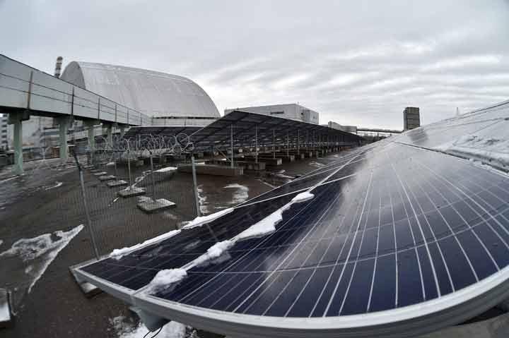 نیروگاه خورشیدی در اطرف چرنوبیل