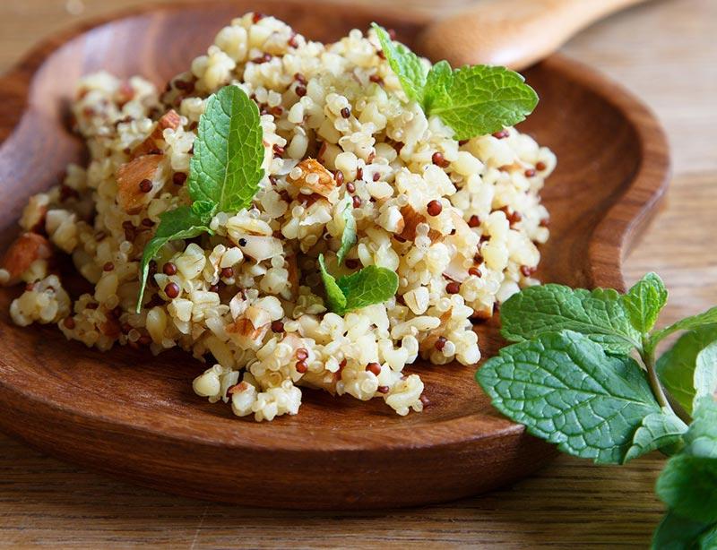رژیم غذایی شکم شش تکه,غذاهای چربی سوز سریع,quinoa-grains-10-daily-habits-blast-belly-fat کینوا