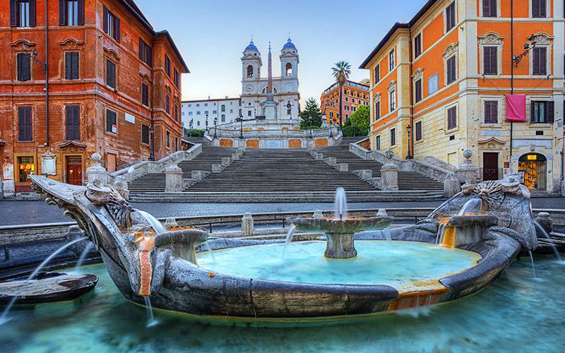 میدان دی اسپاگنا (Piazza di Spagna) - رم