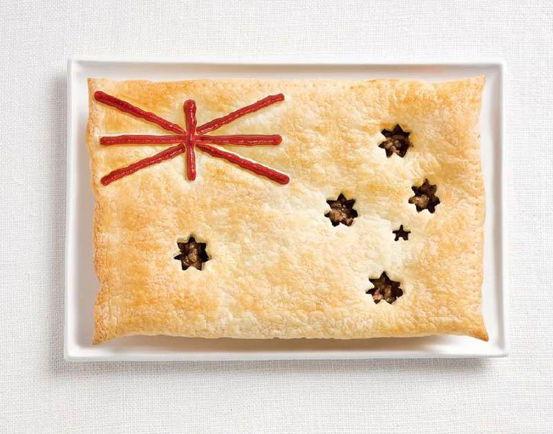 پرچم کشور استرالیا,تزیین دسر ,تزیین خوراکی ها